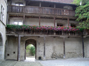 Castle of Gruyere, inner ground