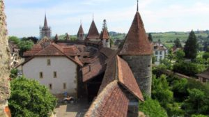 Murten walled medieval town switzerland