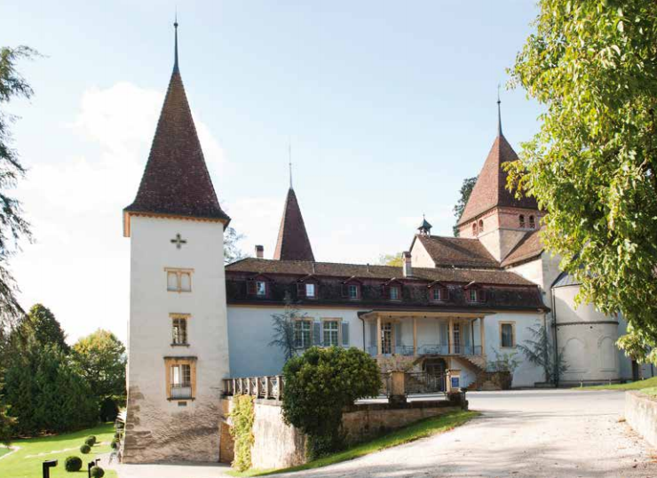 Schloss Munchenwiler our location for knitting retreats on Switzerland